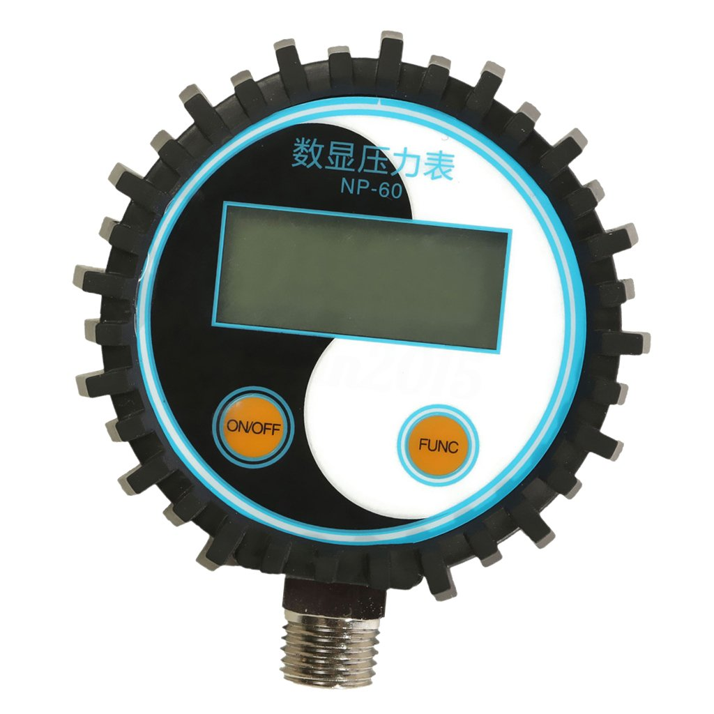 MagiDeal NP-60 G1/4, NPT1/8 Battery Power Digital Pressure Gauge Gas Pressure Tester, 0-200 Psi, 0-150PSI, 0-15PSI, 0-5PSI, -15-0PSI - 0-150PSI