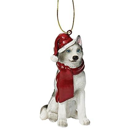 8f471c77bcf Amazon.com  Design Toscano Siberian Husky Holiday Dog Christmas Tree  Ornament Xmas Decorations