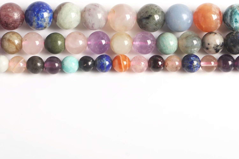 Cuentas redondas de piedras preciosas para collar, pulsera, pendientes, 4 mm, 6 mm, 8 mm, 10 mm, 12 mm vendido por Strand, Piedra variada, 6 mm