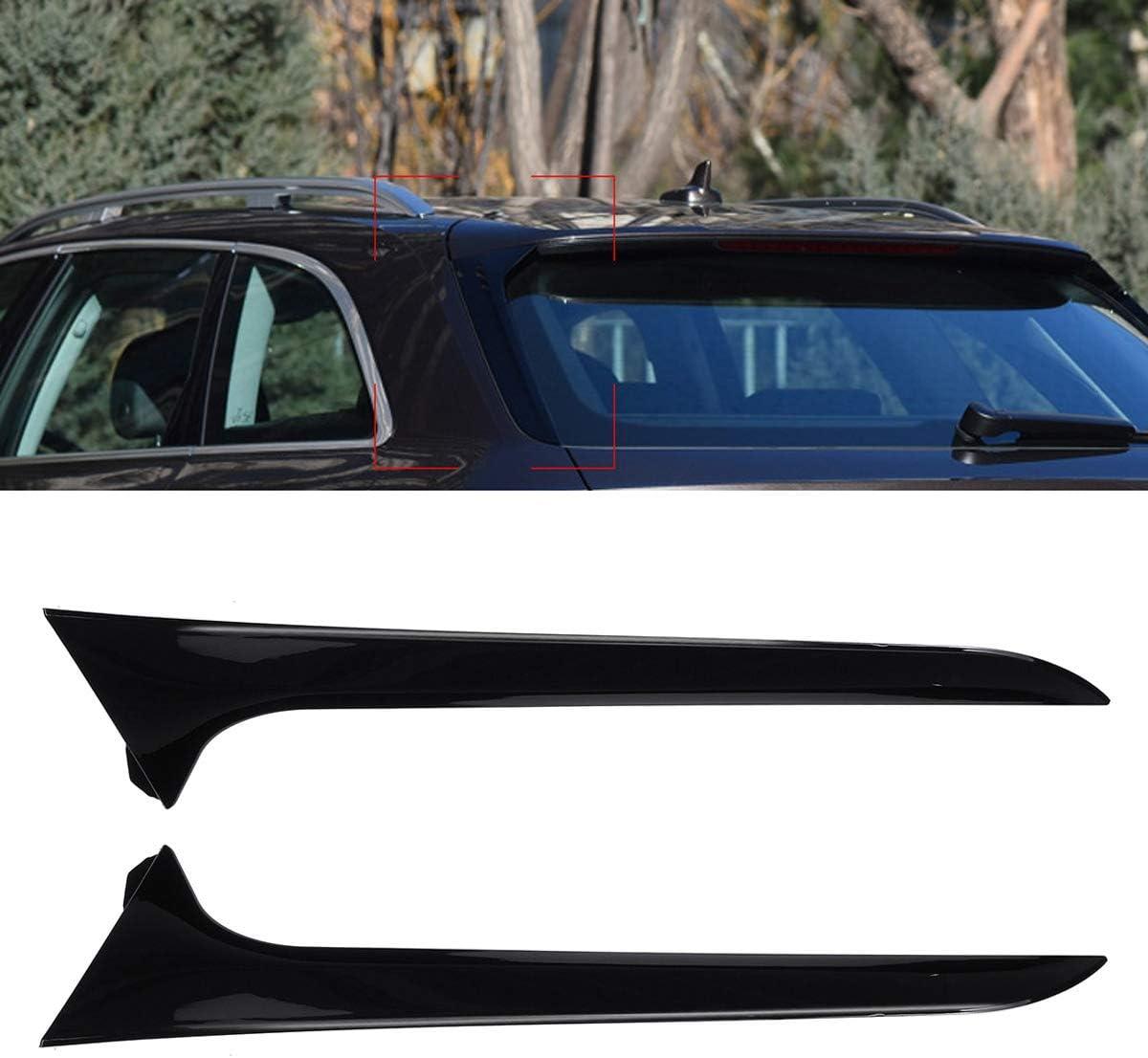 PeroFors Car Rear Window Side Spoiler Wing Canards Splitter For Audi A6 C7 Allroad Tdi Quattro//Audi A6 C7 Avant 2012-2018