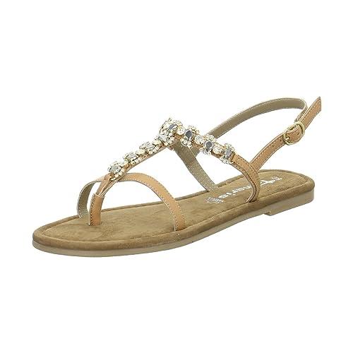 9d4dc3bd4e96 Tamaris - Leather Jewelled Sandal