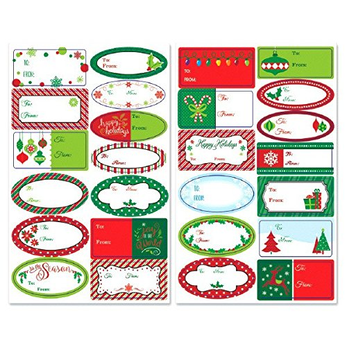 Assorted Adhesive Labels, 156 Ct. | Christmas Gift Tags