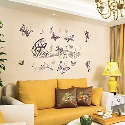 Amazon.com: CDFGDJGGDGD Wall Stickers for Bedroom,PVC Living ...