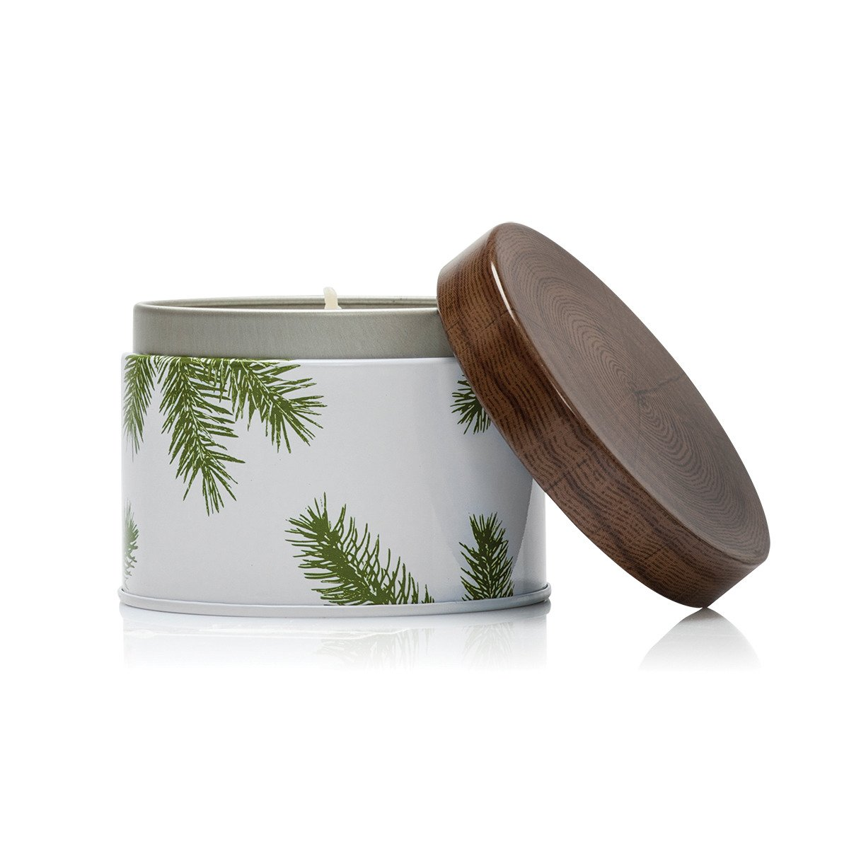 Thymes - Frasier Fir Pine Needle Decorative Tin Candle, 40 Hour Burn Time - 6.5 Ounces by Thymes