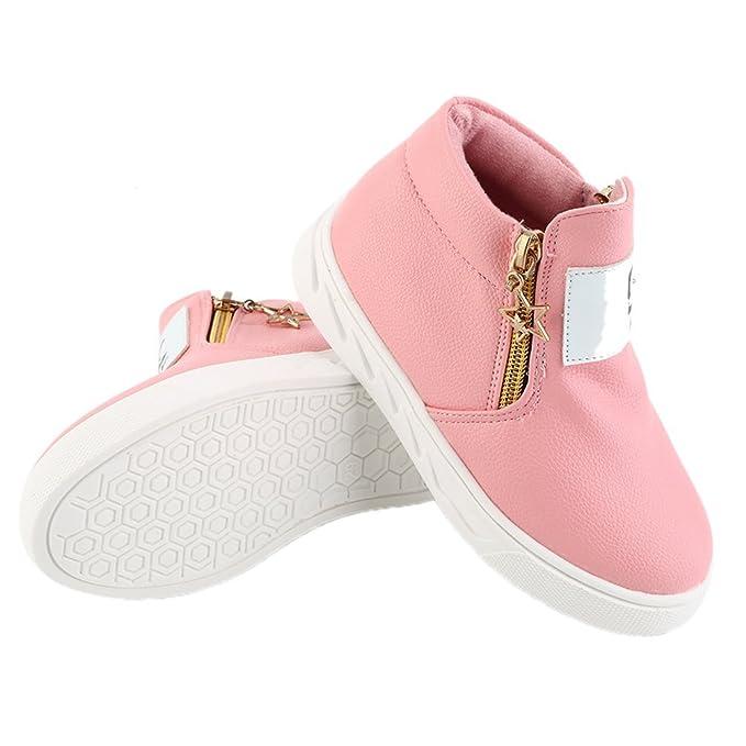 Moda sport casual in pelle sneakers morbido con cerniera alla caviglia Kids Marten stivali nMSO0Xgk