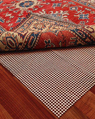 NaturalAreaRug Century Non Slip Rug Pad Earth Friendly Provides Extra Cushion For All Hard Surfaces of size 8' x 10'. Heavier and Thicker than Most Rug Pads