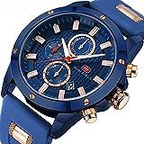 Men's Sport Quartz Watches,Fashion Casual Watch,Mini Focus Men Chronograph Waterproof Wrist Watch with Date Display