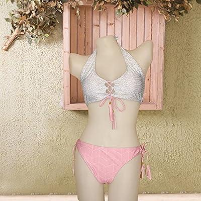 _ Bikini moderne et confortable et à la mode élégante et confortable moderne stamp bikini maillot bleu maillot de split