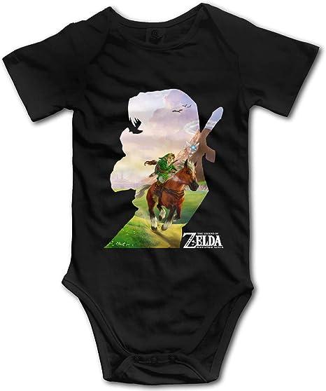 Guangxiwanshuozhuangshigo The Legend of Zelda Baby Unisex Short Sleeve Cotton Bodysuit Infant Toddler Onesies