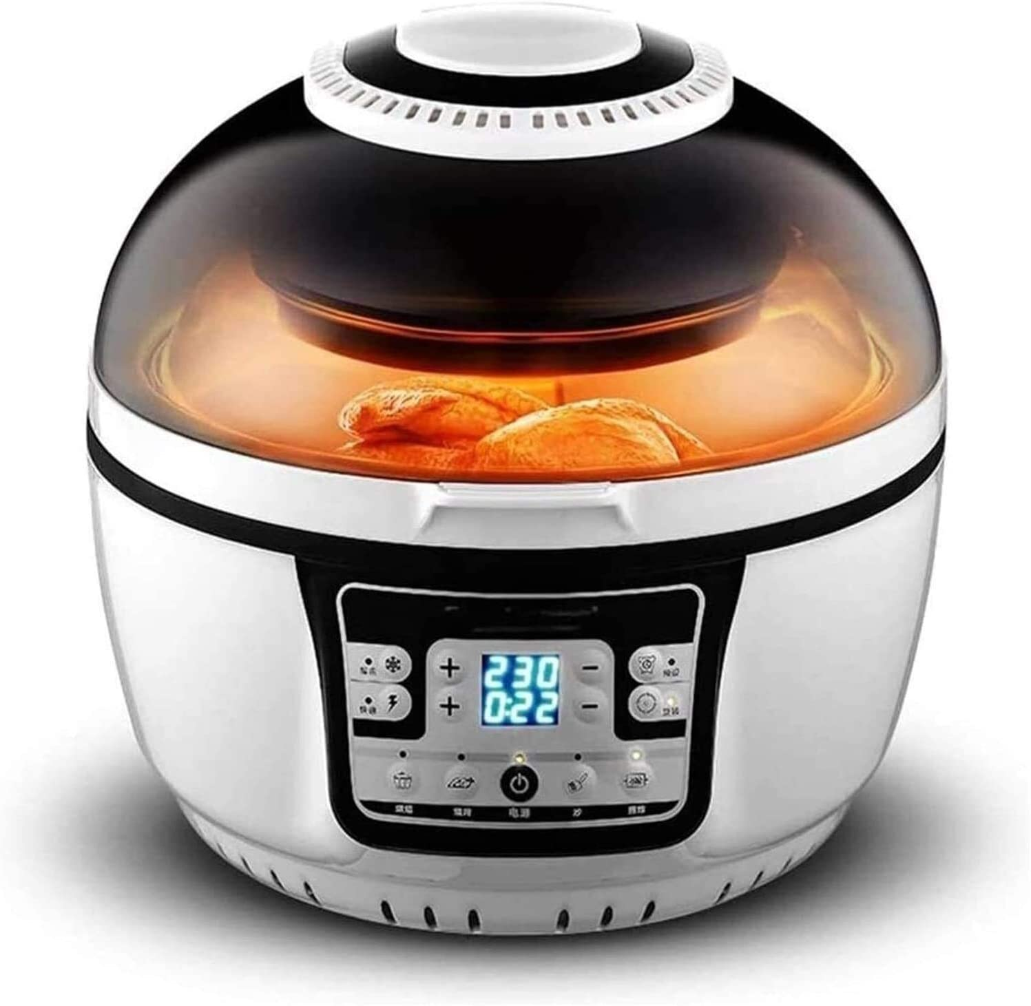 Chef Professional Air Fryer, Digital LCD Display, Healthy Oil-free Low Fat Cooking, 10L