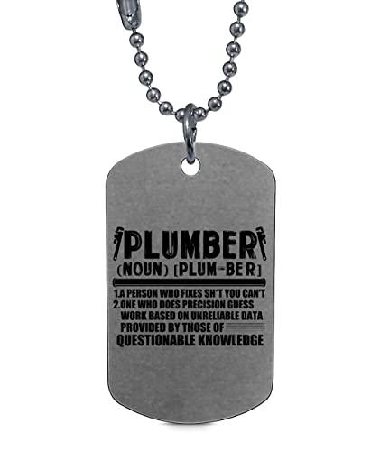 DLAWNECK Proud to Be A Plumber Necklaces, I Love Being A