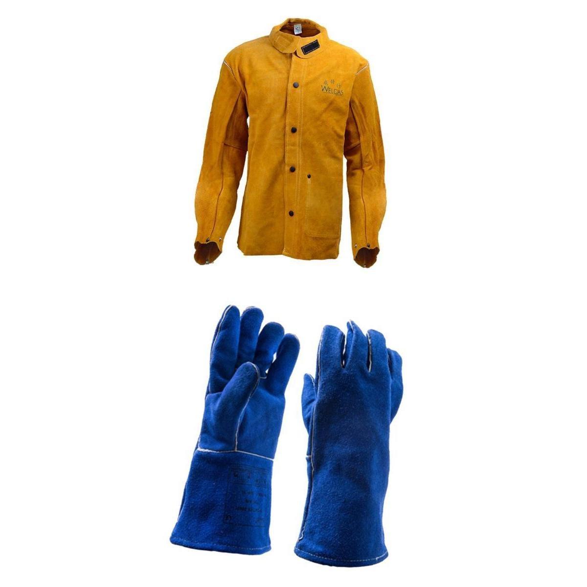 SONONIA 溶接ジャケット+作業手袋 防護服 耐火性 耐熱性 耐磨耗性 快適 牛革 M/XL/XXL XL B078PKDRN7 xl  xl