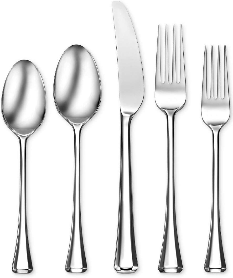 Oneida Faceta 20 Piece Fine Flatware, Service for 4 18/10 Stainless Steel, Silverware Set