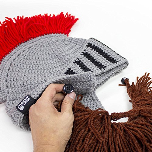 776286c20c1 Beard Head Knight Beard Beanie - Funny Knitted Helmet w Fake - Import It All