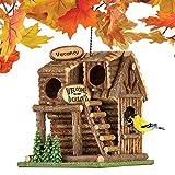 Hanging Northwoods Log Cabin Birdhouse