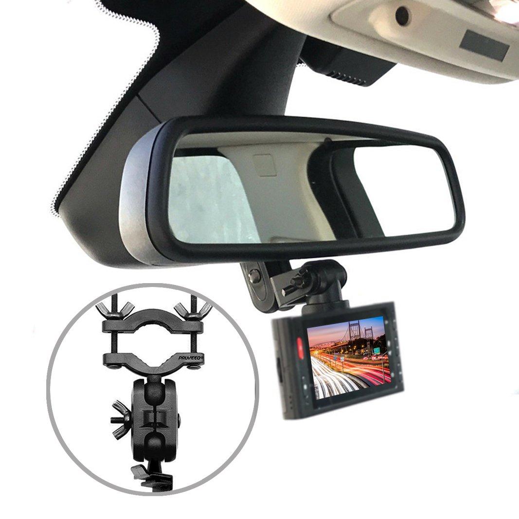 Pruveeo Dash Cam Mount for 99% Dash Cam and GPS Car Rearview Mirror Mount Kit Mirro Mount