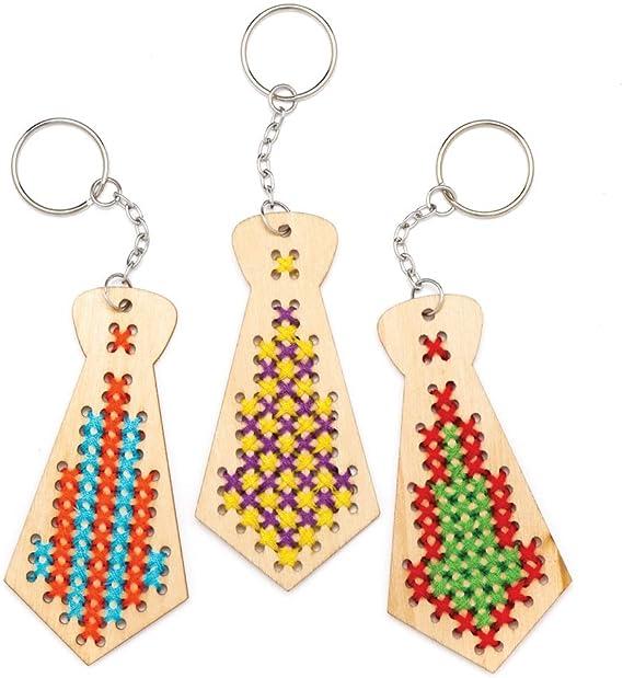 Baker Ross- Llaveros de madera en forma de corbata para hacer ...