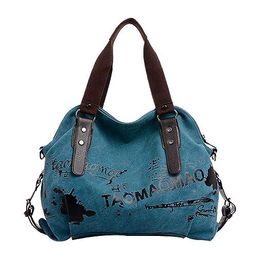 7cdce4fbf Logobeing Bolso Bandolera Grande Bolsos de Hombro Mujer Lona Shoppers de  Grande y Baratos Bolso mensajero