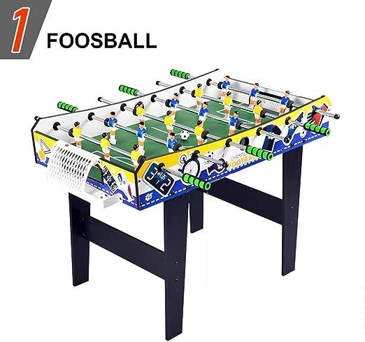 Combinación de Juegos de Mesa for niños 4 en 1 Combo Mesa de futbolín Juego Multi Juego de Mesa - Portátil de Mesa de futbolín - Aleatorio - Bolos - Mesa de