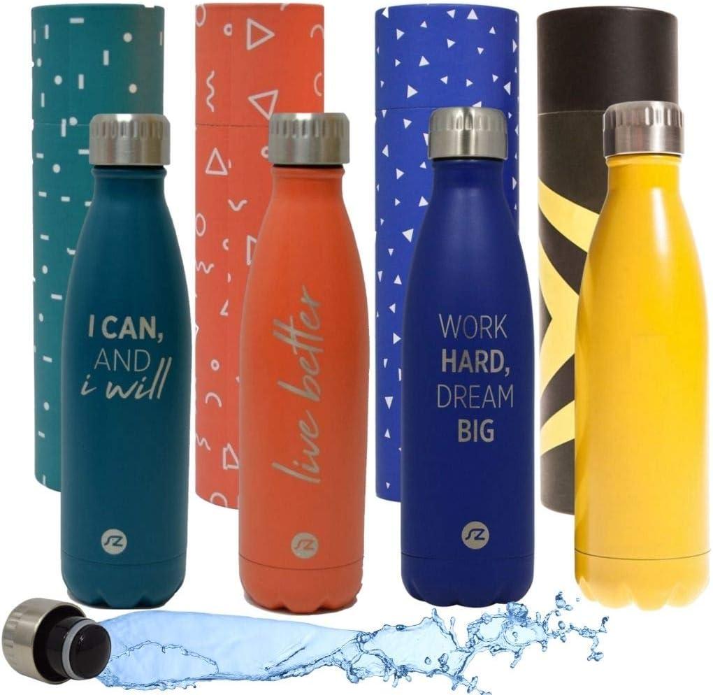 Sternitz Botella de Agua Hydra Acero Inoxidable con Aislamiento al vacio. Mantiene Tus Bebidas frías por 24 Horas y Calientes por 12 Horas. Water Bottle (Harbour Blue)