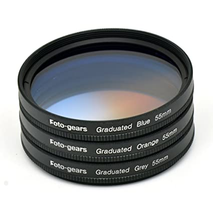 Neewer 58mm Graduated Neutral Density Filter Grey For CANON Rebel T6i T6s