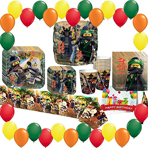 The Lego Ninjago Movie Deluxe Party Pack Bundle