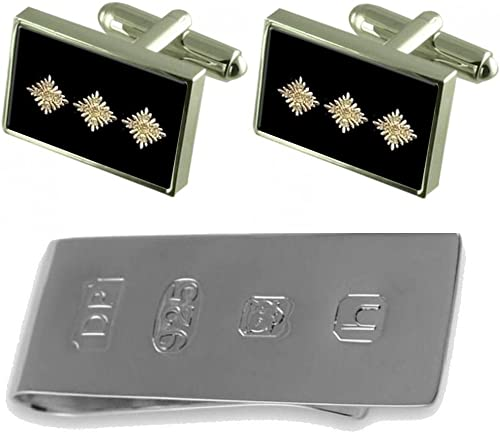 Select Gifts Police Inspector Pips Cufflinks /& James Bond Money Clip