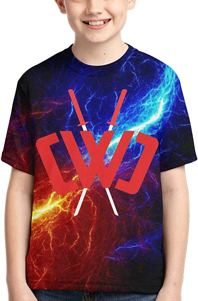 Awesome Ch-ad Wild Clay Kids T Shirt 3D Printed Short Sleeve Fashion Casual Youth Tees Shirts for Girls Boys Children