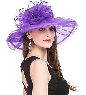 8718b2b9114c4 SAFERIN Women s Organza Church Kentucky Derby Fascinator Bridal Tea Party Wedding  Hat