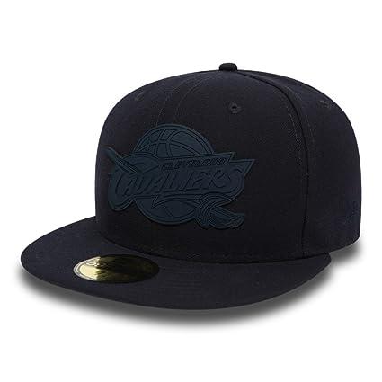 122b4cdea1570 New Era NBA CLEVELAND CAVALIERS Team Rubber Logo 59FIFTY Cap  Amazon ...