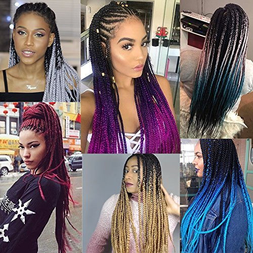 ombre synthetic jumbo box braiding twist hair extensions