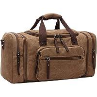 ZYSY Canvas Reisetasche Weekend Bag Reisetasche Leder Travel Duffle Bag Handgepäck für Männer und Frauen