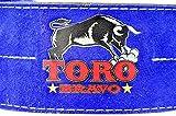 Toro Bravo Lever Powerlifting Belt (XL 37-47 inch waist, Royal Blue) For Sale