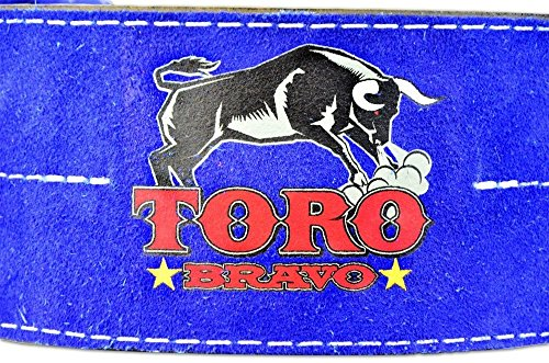 Toro Bravo Lever Powerlifting Belt (XL 37-47 inch waist, Royal Blue) For Sale