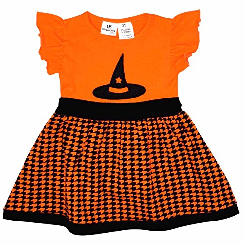 Unique Baby Girls Witch Hat Halloween Dress (3t)