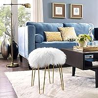 TOV Furniture Zelda Sheepskin Bench, White