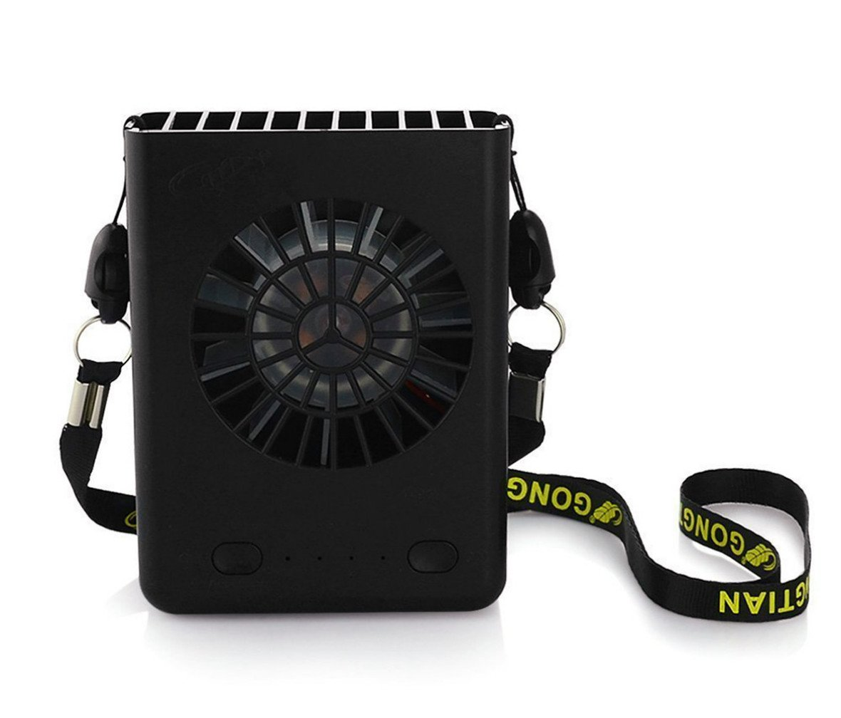 Beegoo Personal Necklace Fan Rechargeable USB Desk Fans Small Portable Handheld Fan for Watching Ball Game, Camping,Travelling,Hiking(18650 Battery Included)