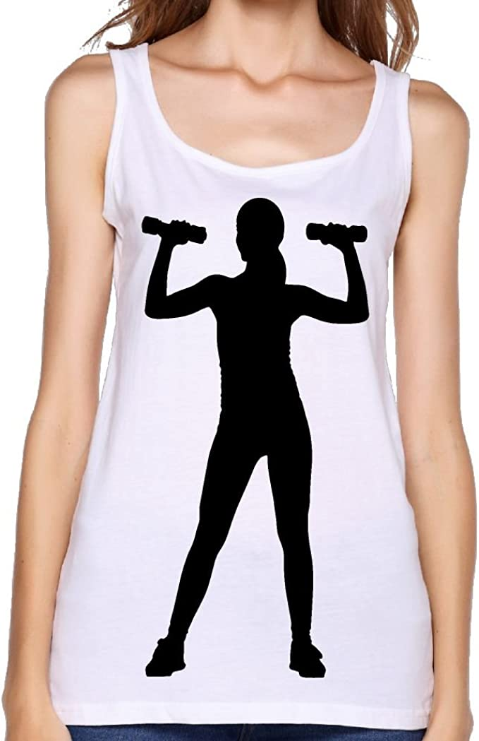 Girl With Dumbbells Silhouette Women Sleeveless Tshirt Round Neck Casual Fit Lady Workout Tank At Amazon Women S Clothing Store Find & download free graphic resources for woman silhouettes. girl with dumbbells silhouette women
