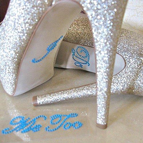 Akak Store 3 Set 6 Pcs Mix Colors Wedding Rhinestone Shoe Decals