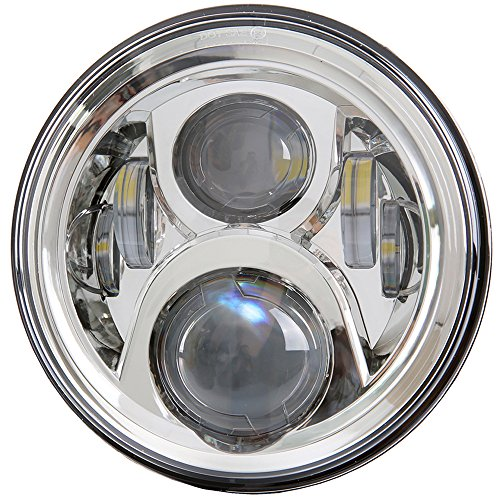 (7 inch LED Headlight DOT Bulb Set Kit Light Headlamp for Harley Davidson Touring Ultra Classic Electra Street Glide FatBoy Heritage Softail Slim Deluxe Switchback Road King Yamaha Motorcycle)