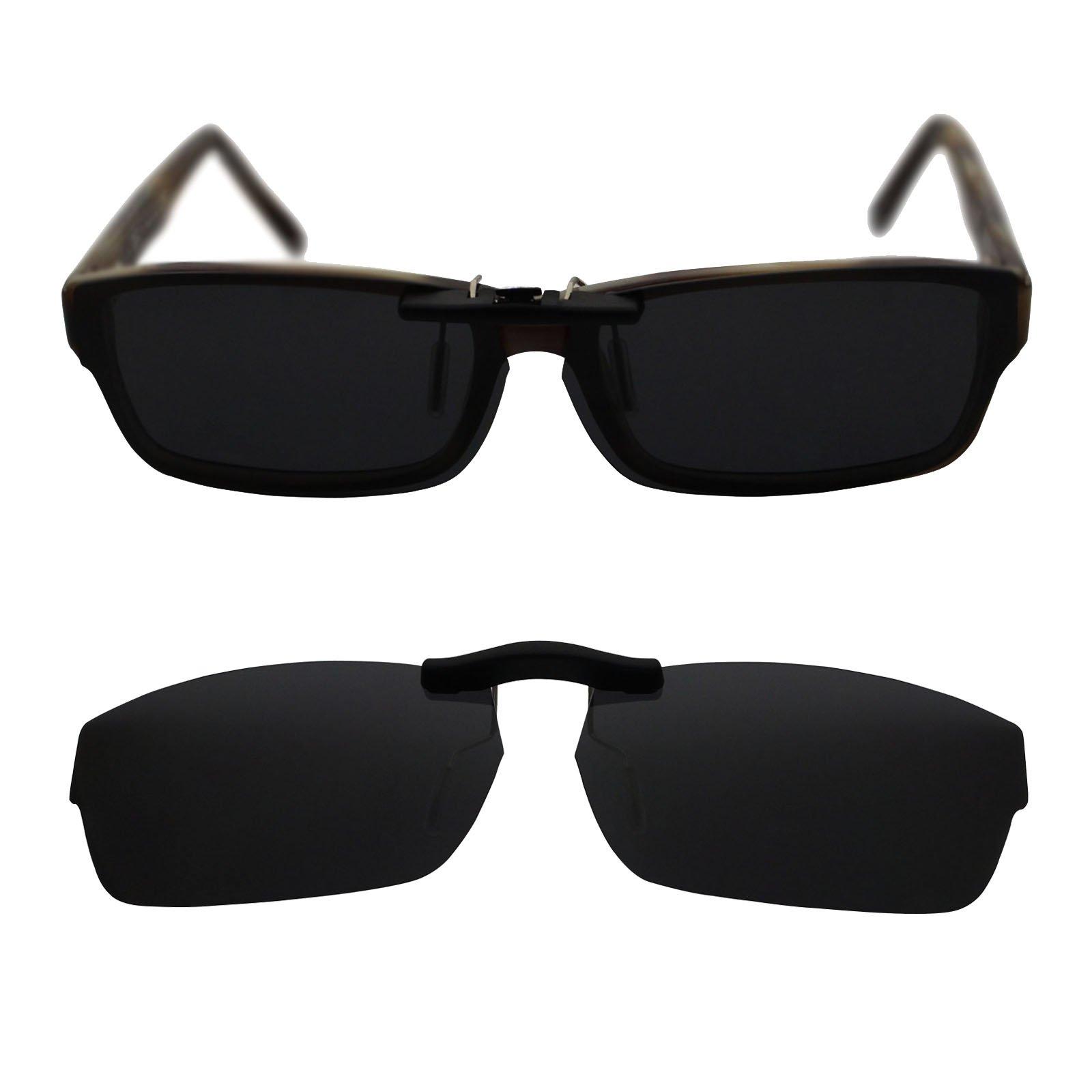 Custom Polarized Clip On Sunglasses for RAY-BAN RB5169 (54mm) 54-16-140 (Black)