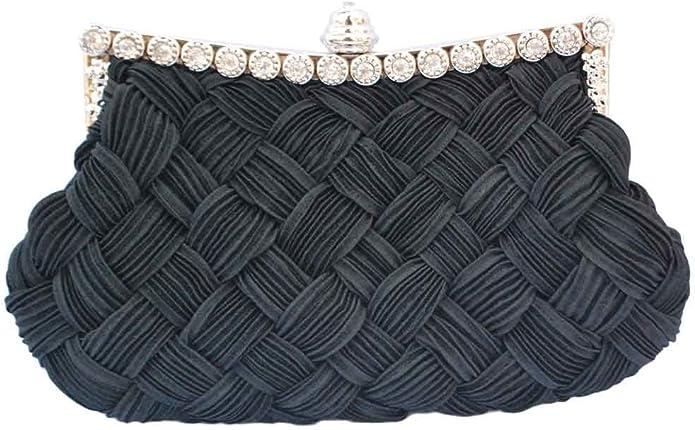 Vintage Handbags, Purses, Bags *New* Chicastic Pleated and Braided Rhinestone studded Wedding Evening Bridal Bridesmaid Clutch Purse $11.99 AT vintagedancer.com