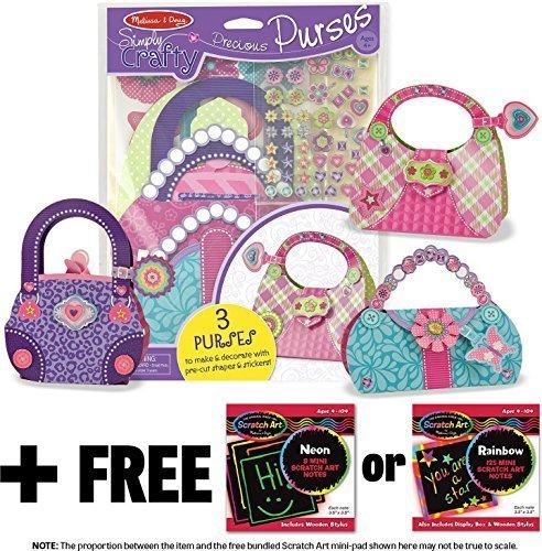 Precious Purses - Simply Crafty Series + FREE Melissa & Doug Scratch Art Mini-Pad Bundle [94825]