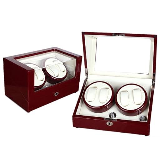 K-Y Caja Relojes Automaticos Cajas de Regalo para Reloj Winder Mesa giratoria Cajas giratorias Reloj automático Winders Cajas de Reloj Cajas Cajas de enrollamiento Cajas de presentación (Color : F): Amazon.es: Hogar