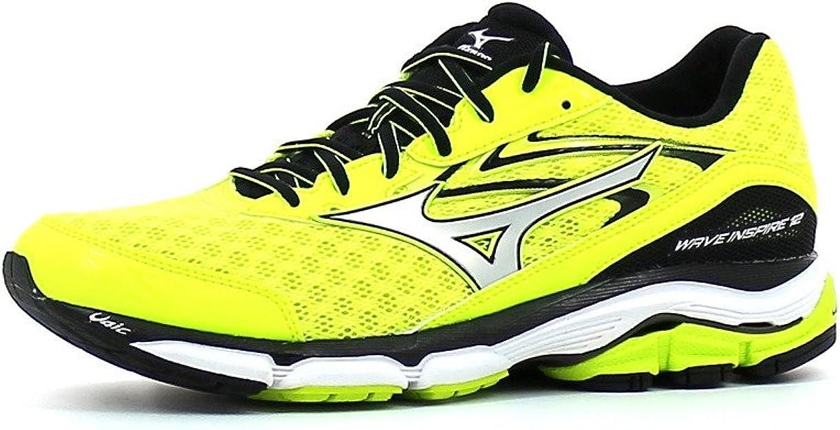 Mizuno Wave Inspire 12 - Zapatillas de correr de competición para hombre, amarillo, 44.5 EU: Amazon.es: Deportes y aire libre