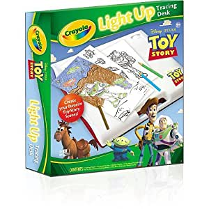 Amazon Com Crayola Light Up Tracing Desk Toy Story