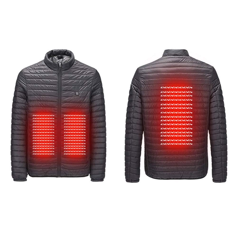 Fishing Snow Plow Skiing KiyomiQvQ Men Heated Jacket Electric Heating Clothes Heating Body Warm Winter with Battery Clothing Windproof Hoodie with Battery for Riding Bicycle and Motorcycle