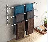 LightinTheBox Stainless Steel Bathroom Shelves 23.6 Inch Tree Towel Bar Updated Version with Wall Mount & Nail Free Installation Way Hotel bath Towel Rack Modern Polished Finish