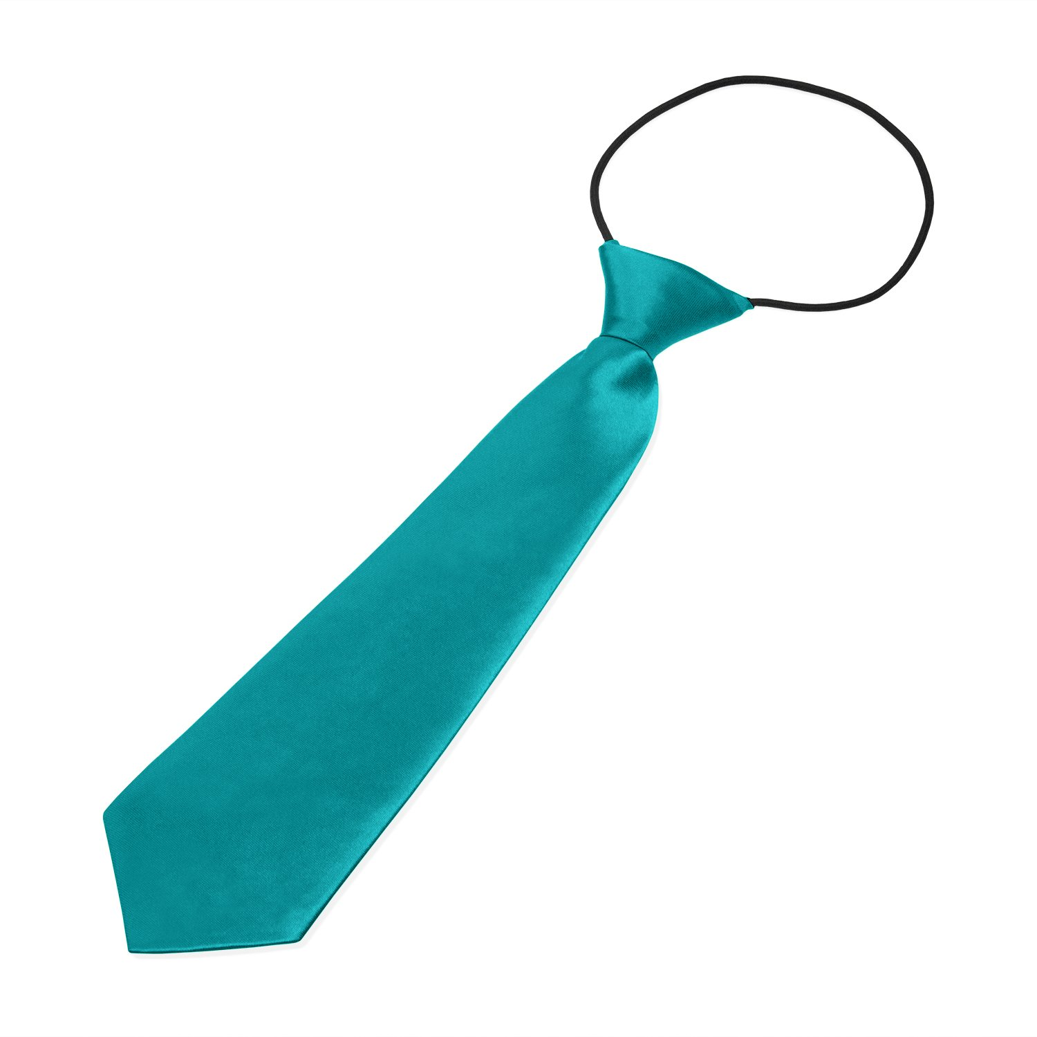 Knight Boys Pre-tied Elasticated Neck Tie Turquoise