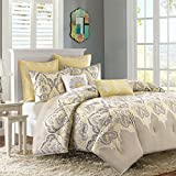 Madison  Nisha Comforter Set, Full/Queen, Yellow